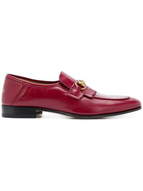 Gucci Horsebit Loafers In Red