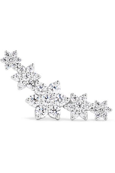 Maria Tash Flower Garland 18-karat White Gold Diamond Earring