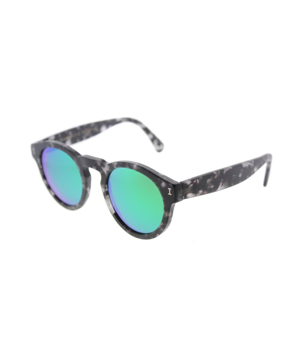 Illesteva Leonard Tortoise Round Sunglasses