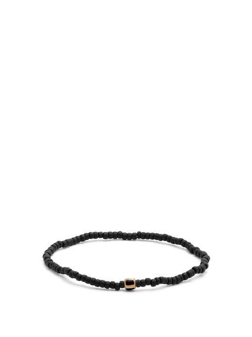 Luis Morais Bead, Enamel And Yellow-gold Bracelet In Black