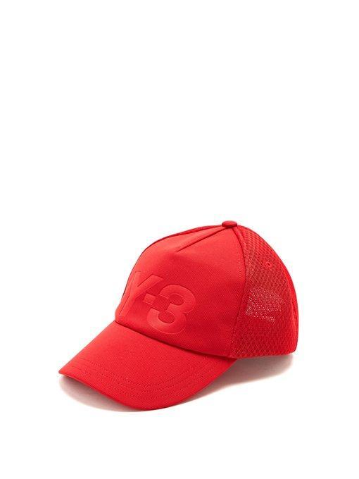 58d61a45313b1 Y-3 Red Logo Trucker Hat