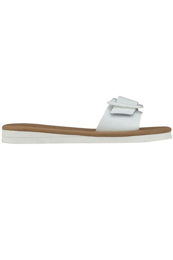 Ancient Greek Sandals Aglaia Glossy White