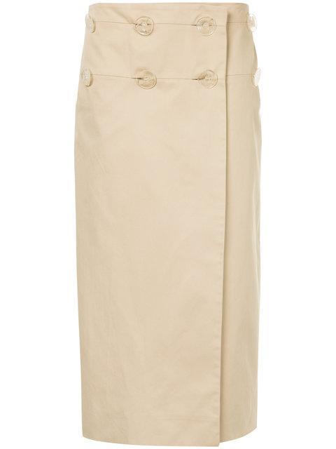 Christopher Esber Resin Skirt In Brown