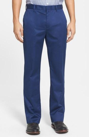Bonobos 'weekday Warriors' Non-iron Straight Leg Cotton Pants In Monday True Blues