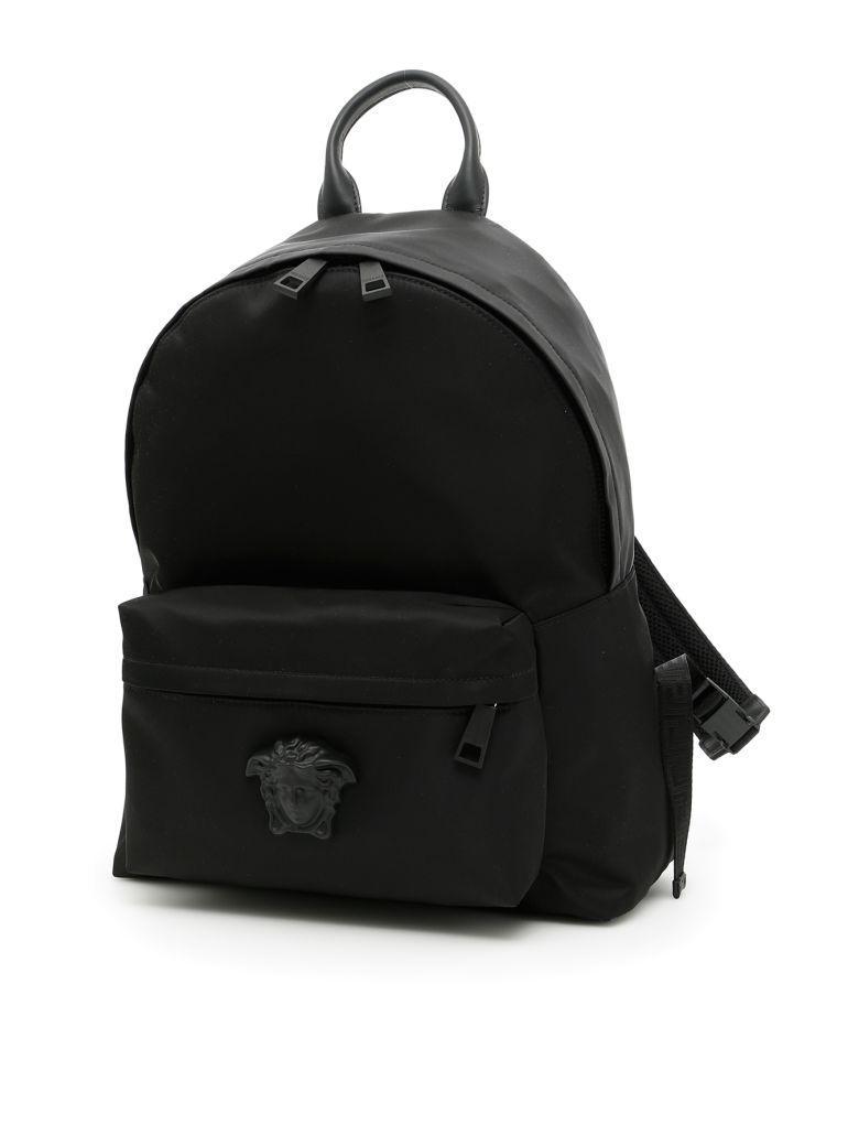Versace Palazzo Backpack In Nero+neronero