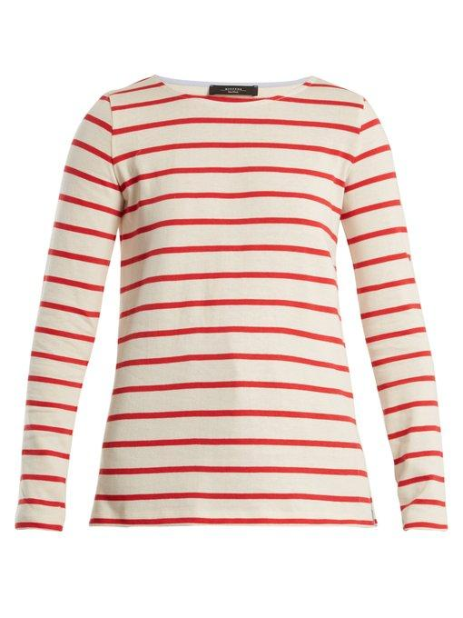 Weekend Max Mara Virtus Sweater In Red Stripe