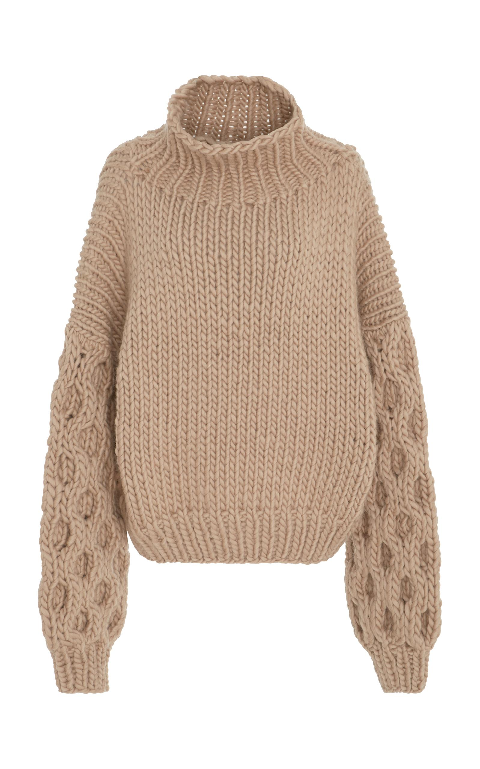 I Love Mr. Mittens Chucky Sleeve Wool Sweater In Neutral