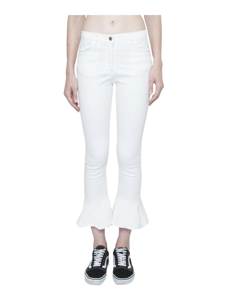 Forte Couture Pamplona Cotton Denim Jeans In Bianco
