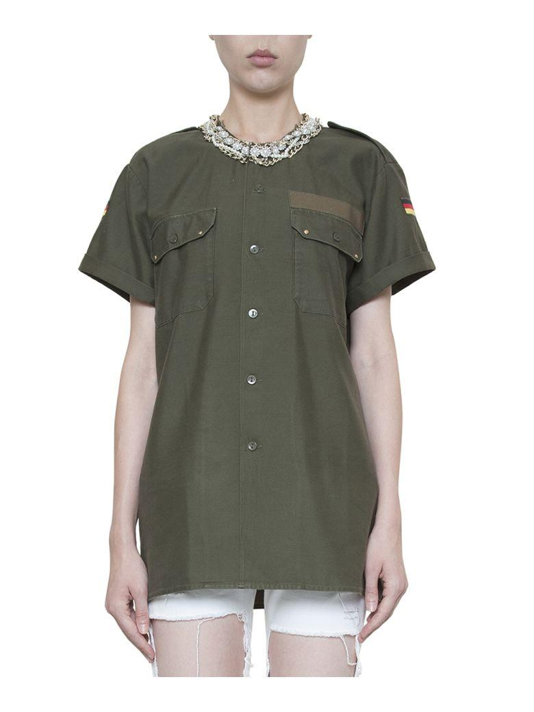 Forte Couture Honour Cotton Shirt In Verde