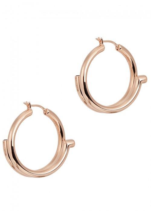 Maria Black Genie 18ct Rose Gold-plated Hoop Earrings