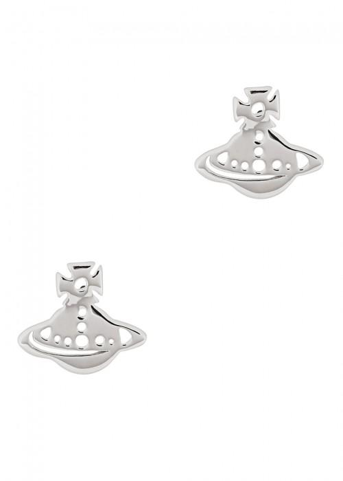 Vivienne Westwood Yeni Silver Tone Stud Earrings