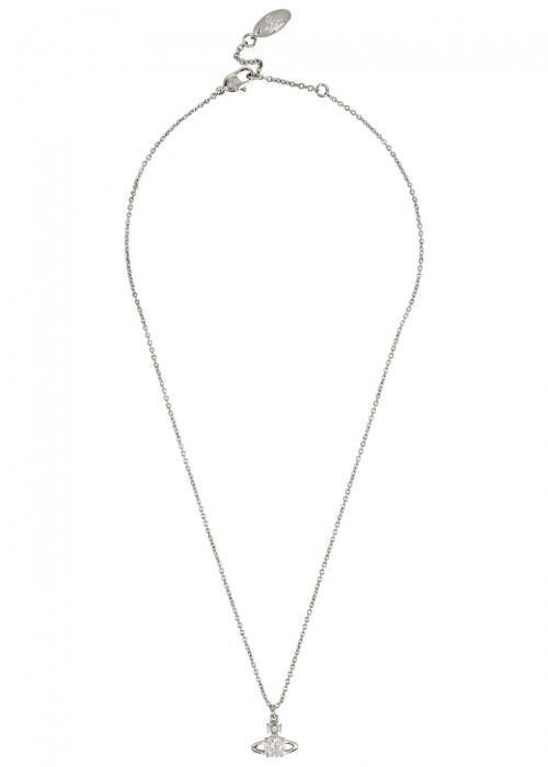 Vivienne Westwood Reina Swavoski Crystal-embellished Necklace In Silver