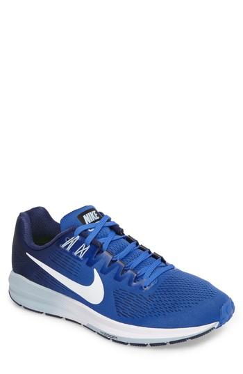 Nike Air Zoom Structure 21 Running Shoe In Mega Blue/white/binary Blue