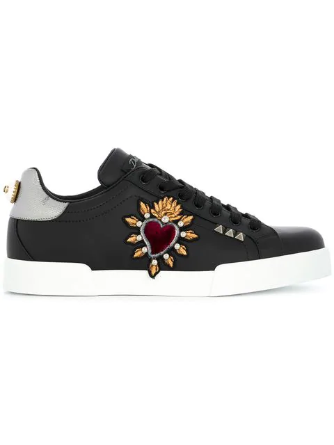 Dolce & Gabbana Portofino Sneakers In Black