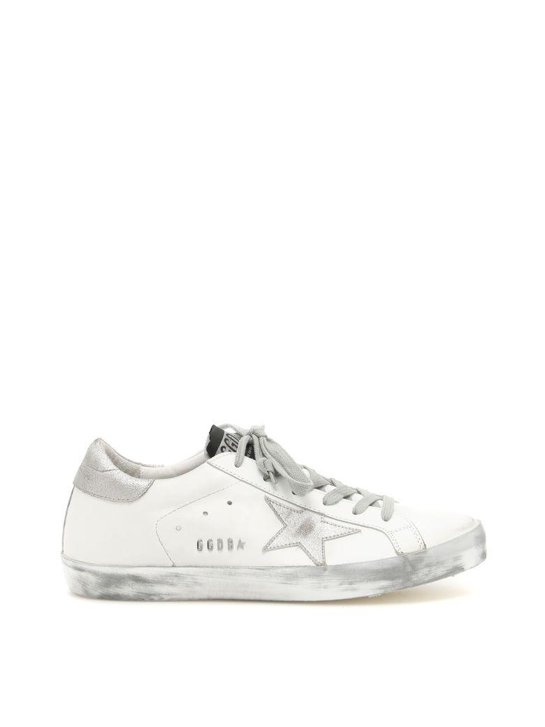 Golden Goose Superstar Sparkle Sneakers In White Silver Starbianco