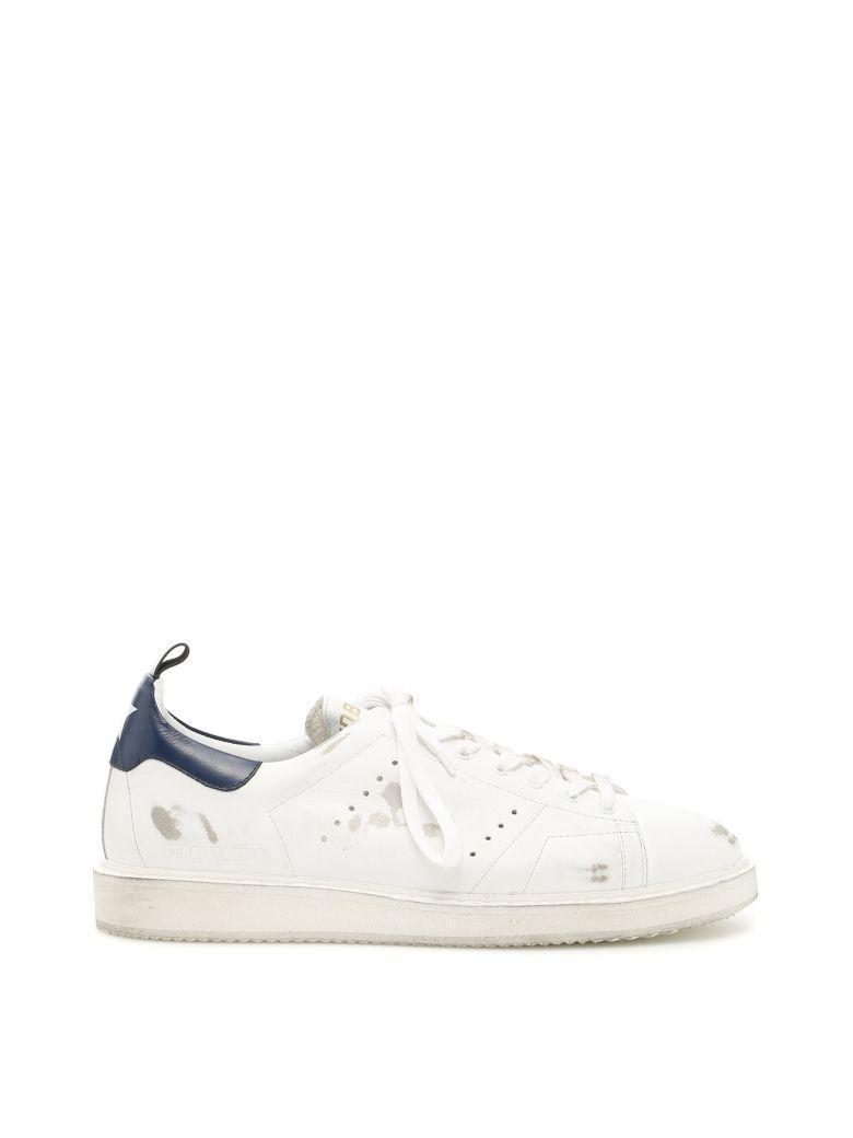 Golden Goose Starter Sneakers In White Blue Usedblu