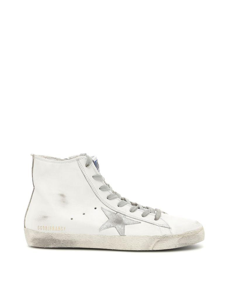 Golden Goose Francy Sneakers In White Silver Leatherbianco