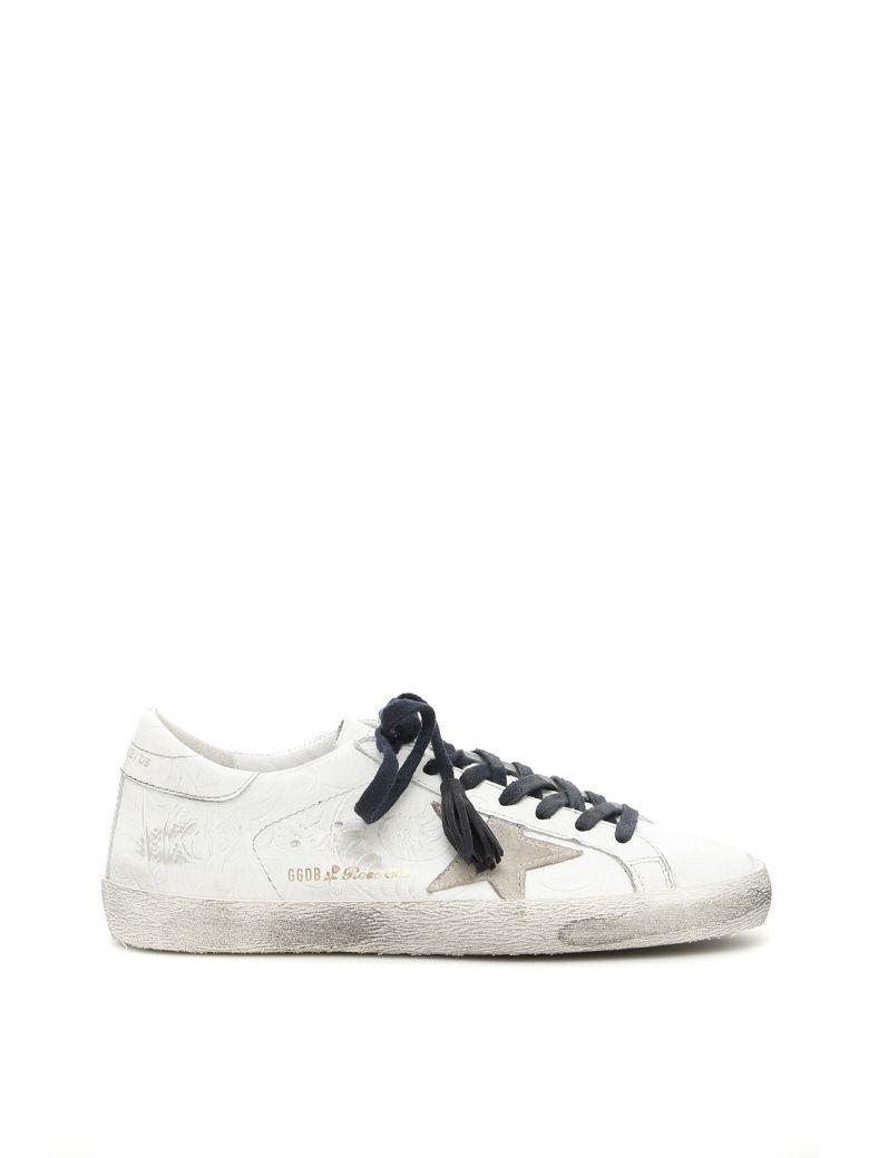 Golden Goose Superstar Rose Sneakers In Santa Fe Flower White Starbianco