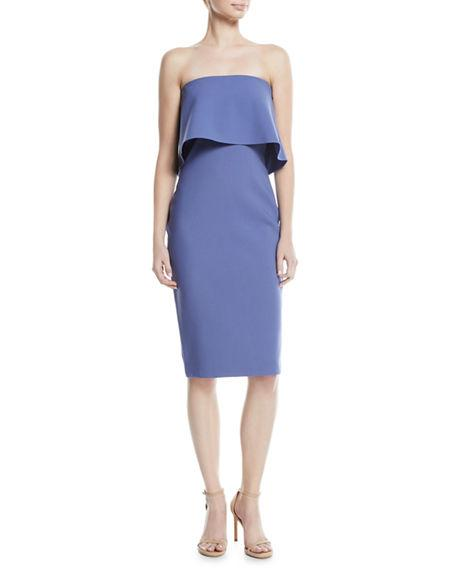 Likely Driggs Asymmetric Strapless Dress In Marlin