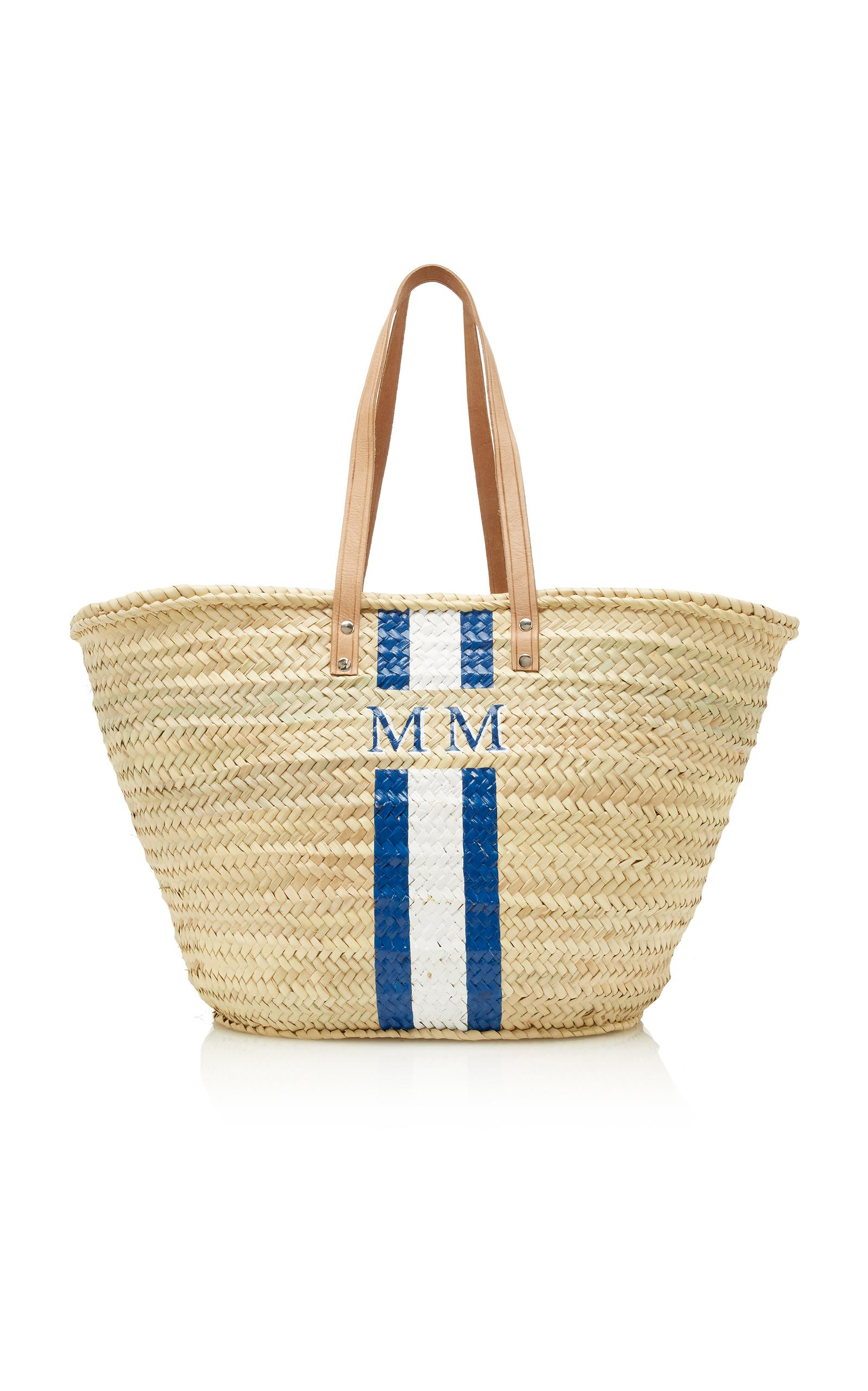 Rae Feather M'o Exclusive Long Handle Basket In Navy