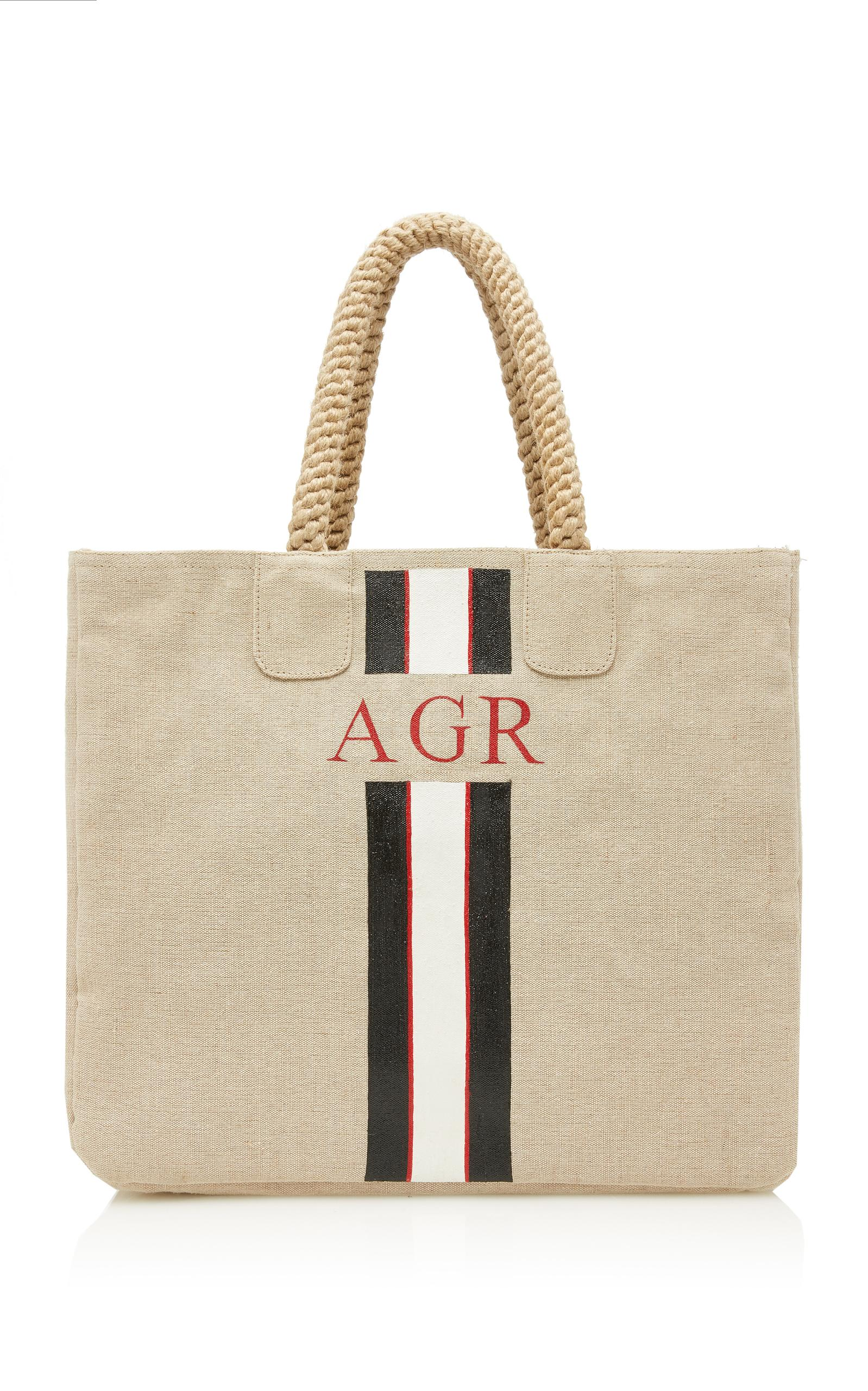 Rae Feather M'o Exclusive Square Shopper In Black/white