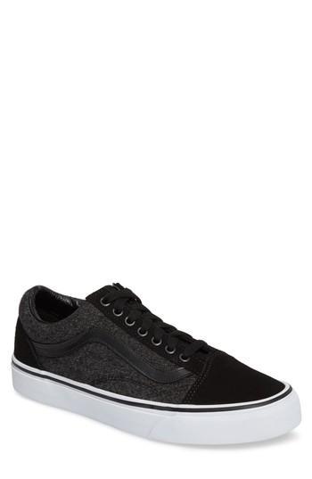 Vans Old Skool Sneaker In Black Suede/suiting