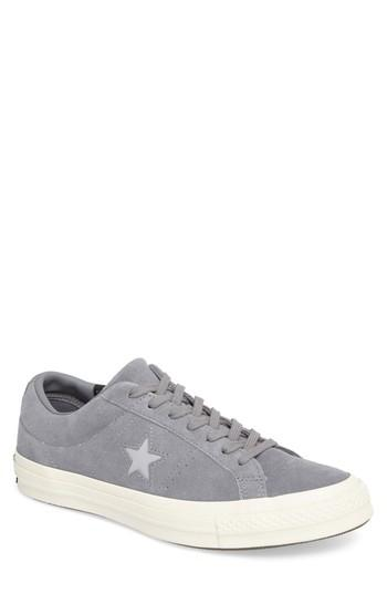 Converse One Star Sneaker In Cool Grey Suede