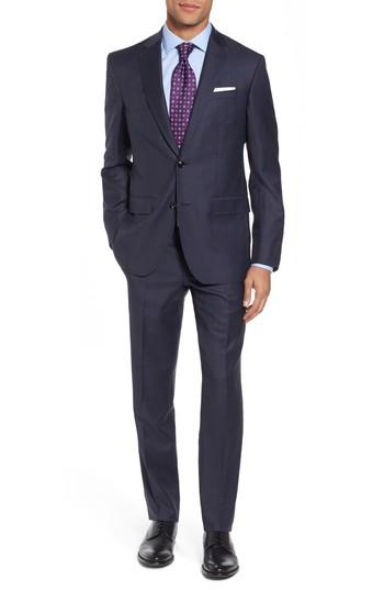 Ted Baker Jay Trim Fit Solid Wool Suit In Blue