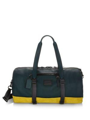 Coach Metro Leather Gym Bag In Forest Yellow Gold