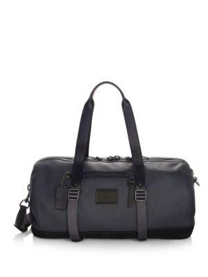 Coach Metro Leather Gym Bag In Midnight Navy Black