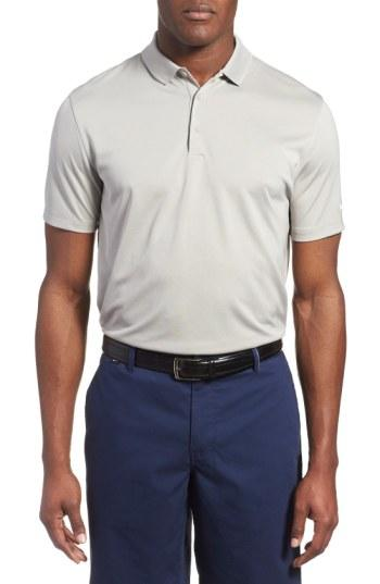 Nike 'victory Dri-fit Golf Polo In Pewter Grey/white