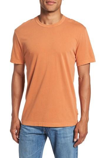 James Perse Crewneck Jersey T-shirt In Orange Pigment