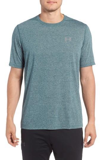 Under Armour Regular Fit Threadborne T-shirt In Arden Green / Graphite