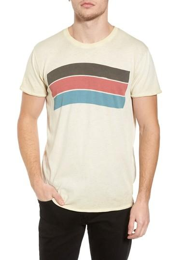 Scotch & Soda Washed Graphic T-shirt In Ecru