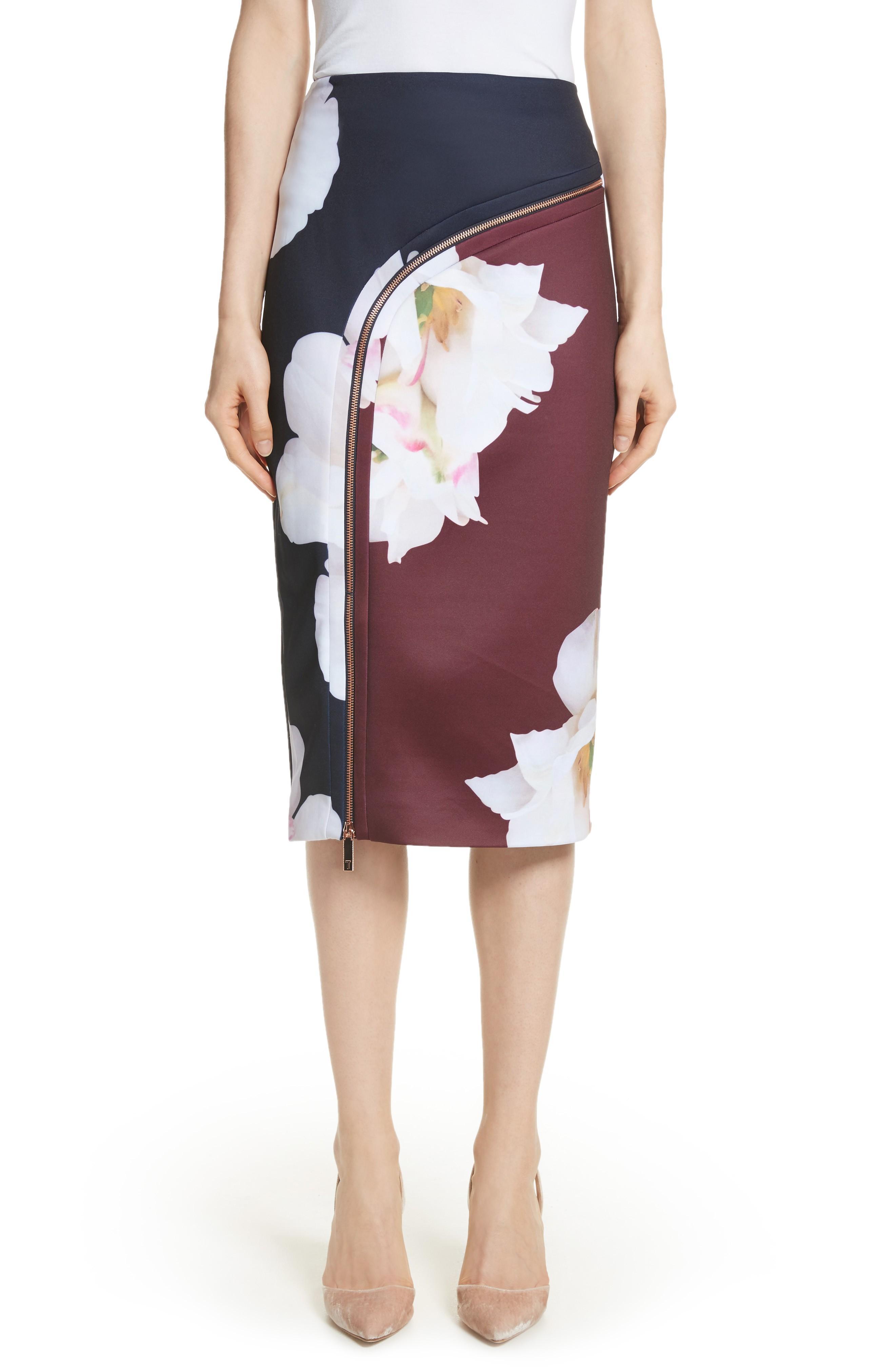 ee74e554dc6c23 Ted Baker Gardenia Pencil Skirt In Dark Blue | ModeSens