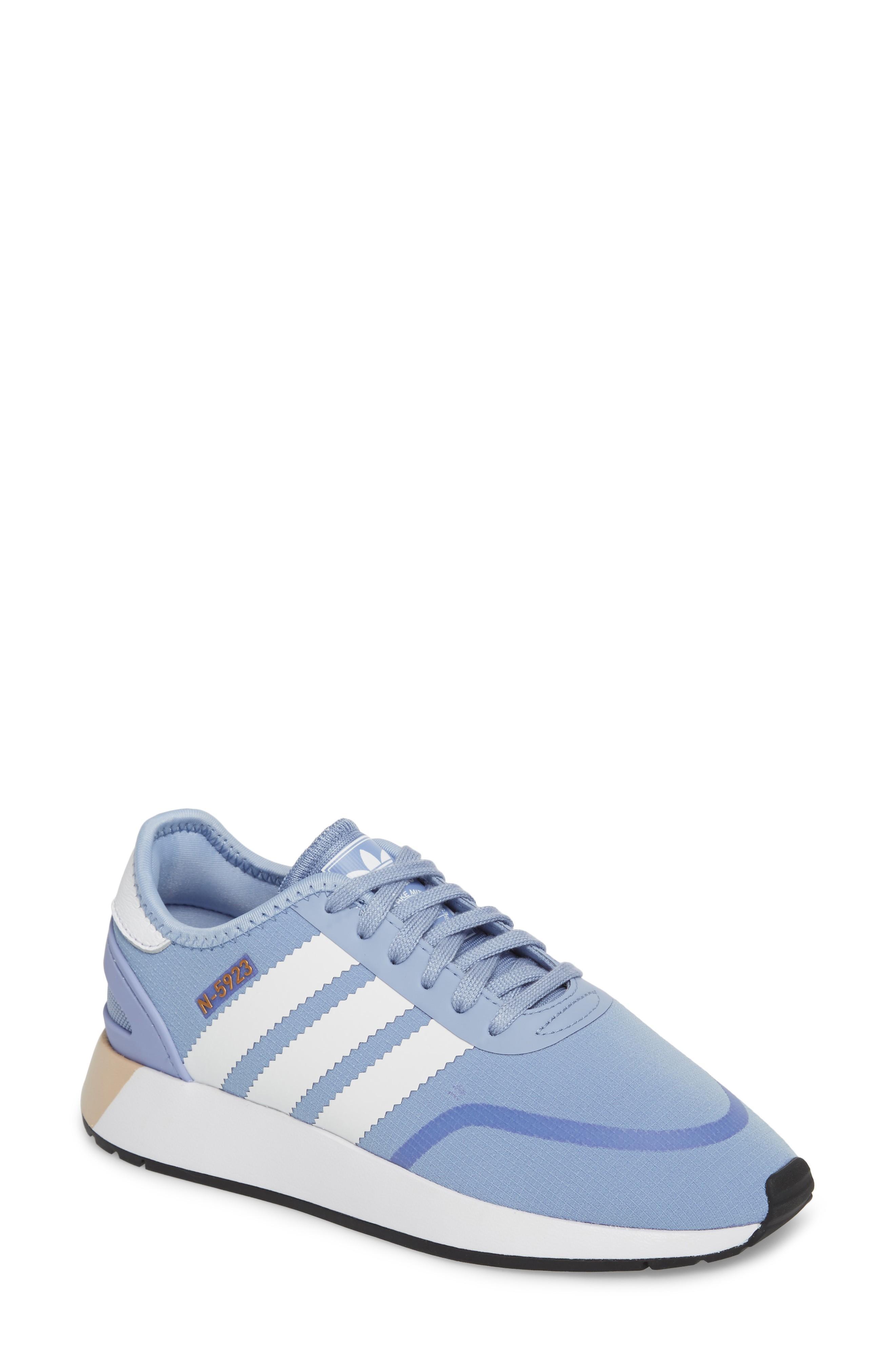 5a08ea6b442d Adidas Originals Iniki Running Shoe In Chalk Blue  White  White ...