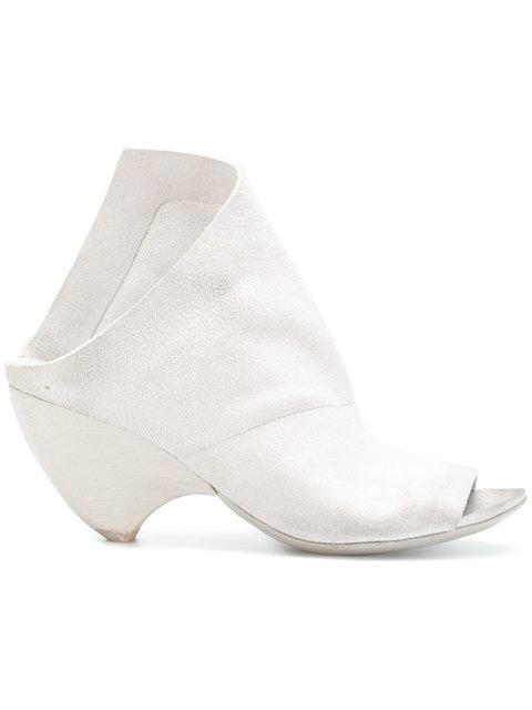 MarsÈLl Open Toe Chunky Heel Sandals In White