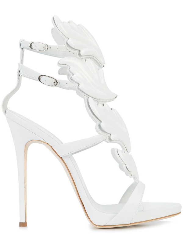 bc89966d7 Giuseppe Zanotti Women's Cruel Coline Leather Wing Embellished High-Heel  Sandals In White
