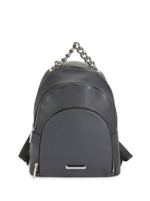 Kendall + Kylie Sloane Leather Backpack In Grey