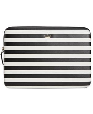 best service f08fd a484d Stripe Universal Laptop Sleeve - Black in Black/Cream