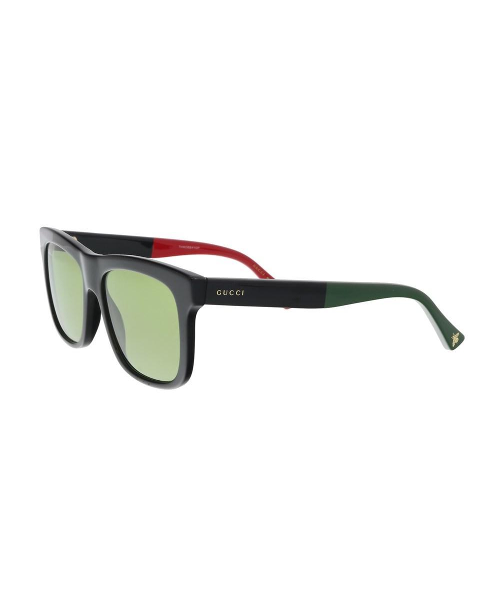 c4ee1189c3a Gucci Gg0158S-004 Black Green Square Sunglasses