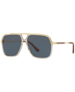 Gucci Sunglasses, Gg0200S In Blue/Brown