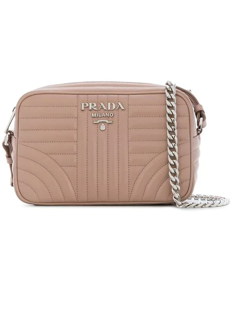 09dcc642c5c34e Prada Diagramme Crossbody Bag In Pink | ModeSens