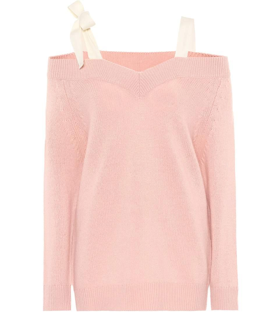 Red Valentino Wool Sweater In Pink