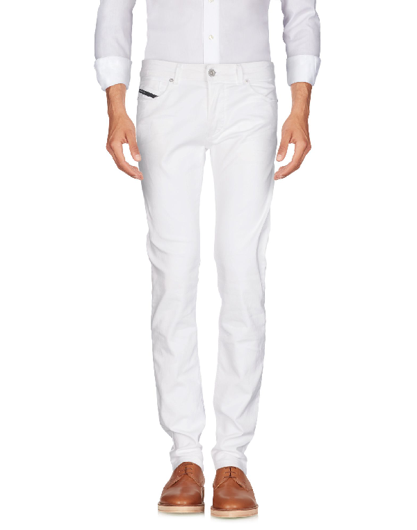 Diesel Black Gold Casual Pants In White