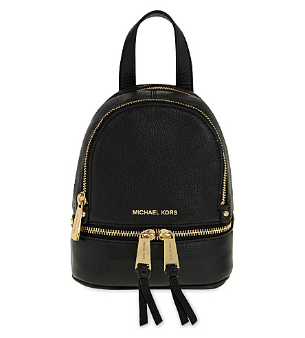 c159bde339a Michael Michael Kors Rhea Extra-Small Leather Backpack In Black ...