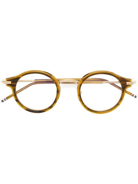 f4437c85ca1 Thom Browne Walnut   18K Gold Optical Glasses In Brown