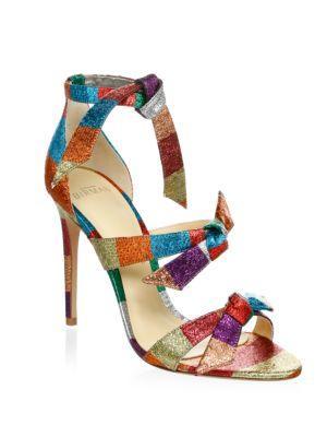 c8985037c993 Alexandre Birman Lolita Metallic Fabric 3-Knot Sandal In Rainbow ...