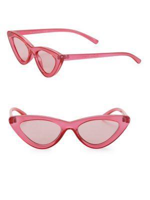 946b63c7e9 Le Specs Adam Selman X Luxe The Last Lolita Pink Sunglasses In Crystal