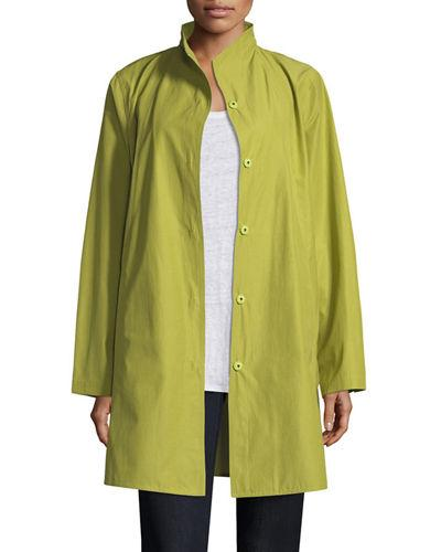 1bf1e21d8ab Eileen Fisher Weather-Resistant Snap-Front Coat